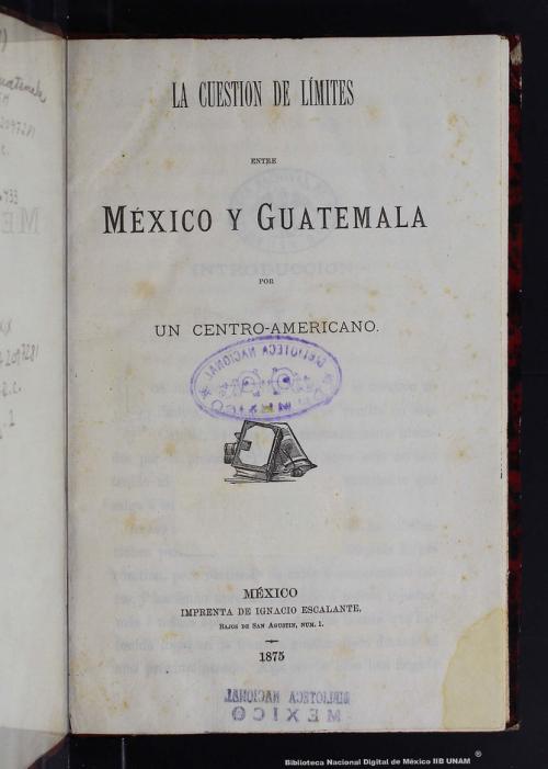 Imagen de La cuestión de límites entre México y Guatemala