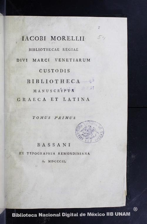 Imagen de Bibliotheca manuscripta graeca et latina