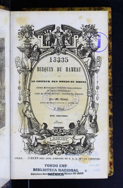 Imagen de Berquin du hameu, ou, Le conteur des bords du Rhone: scénes historiques, esquisses biographiques et récits intéressants tirés de nostre histoire ancienne et moderne
