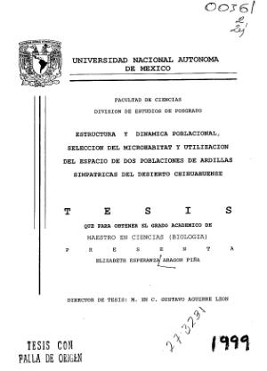 Estructura Y Dinamica Poblacional Seleccion Del