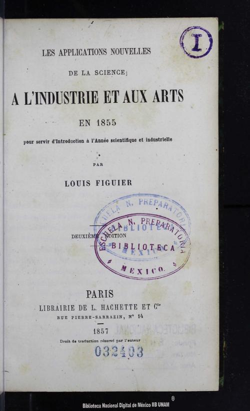 Imagen de Les applications nouvelles de la science a lindustrie et aux arts en 1855