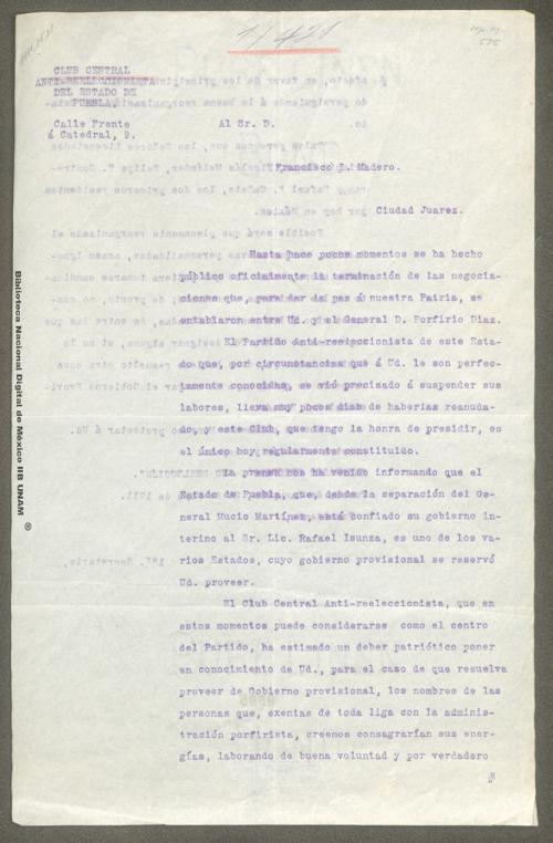Imagen de Carta de Enrique Contreras sobre la candidatura a la gubernatura de Puebla
