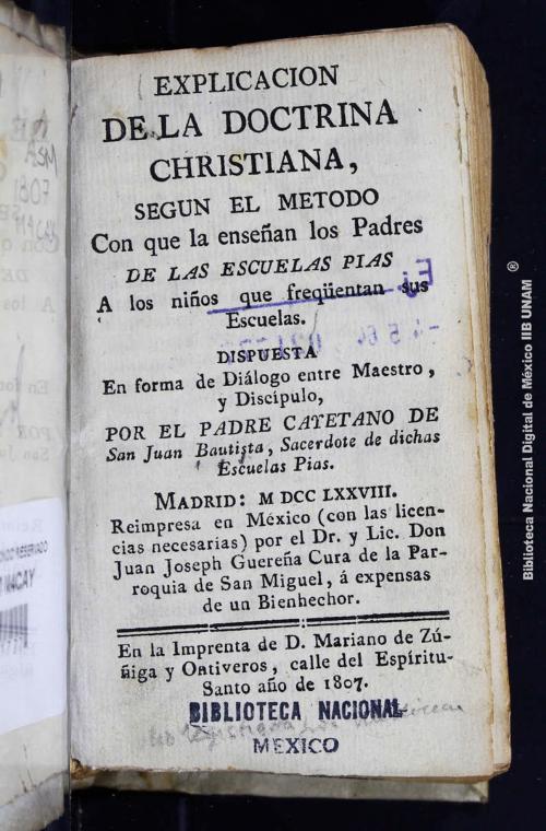 Imagen de Explicación de la doctrina christiana: segun el metodo con que la enseñan los padres de las escuelas pías a los niños que frequentan sus escuelas