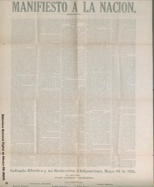 Imagen de Reimpresión del Plan de San Luis
