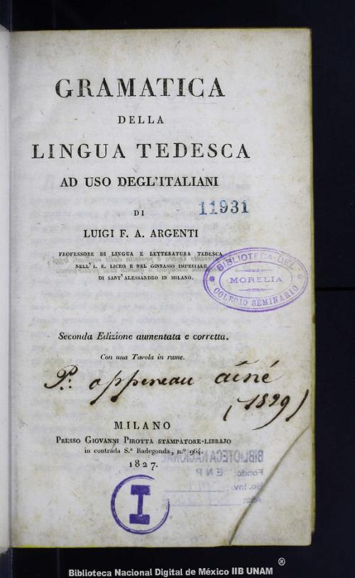 Imagen de Gramatica della lingua tedesca ad uso deglitaliani