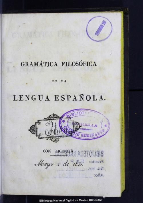 Imagen de Gramática filosófica de la lengua española