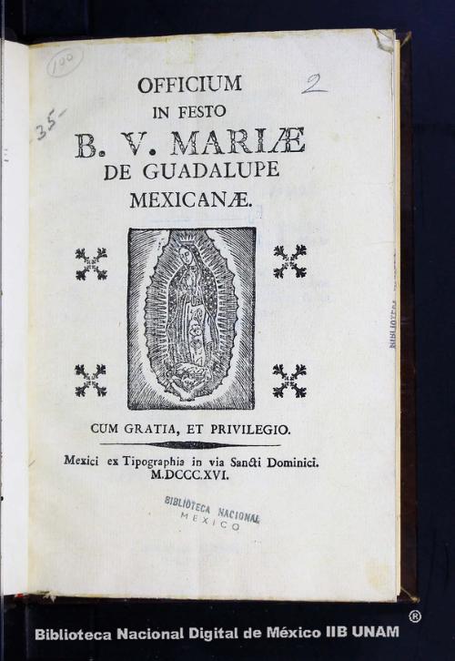 Imagen de Officium in festo BV Mariae de Guadalupe mexicanae