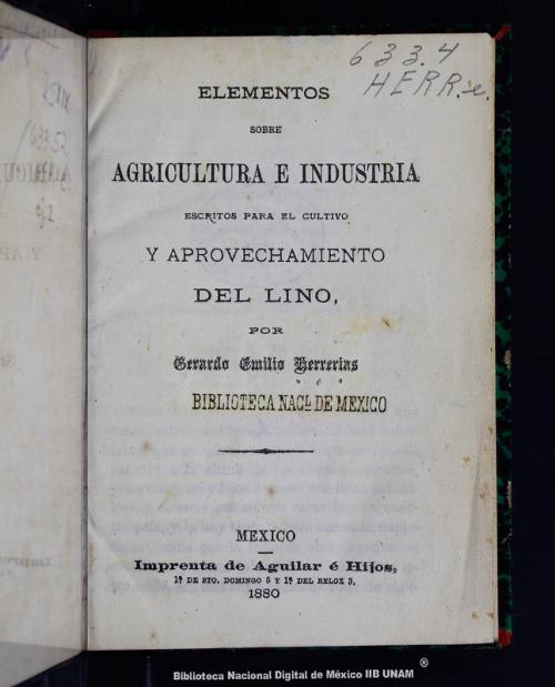 Imagen de Elementos sobre agricultura e industria: escritos para el cultivo y aprovechamiento del lino