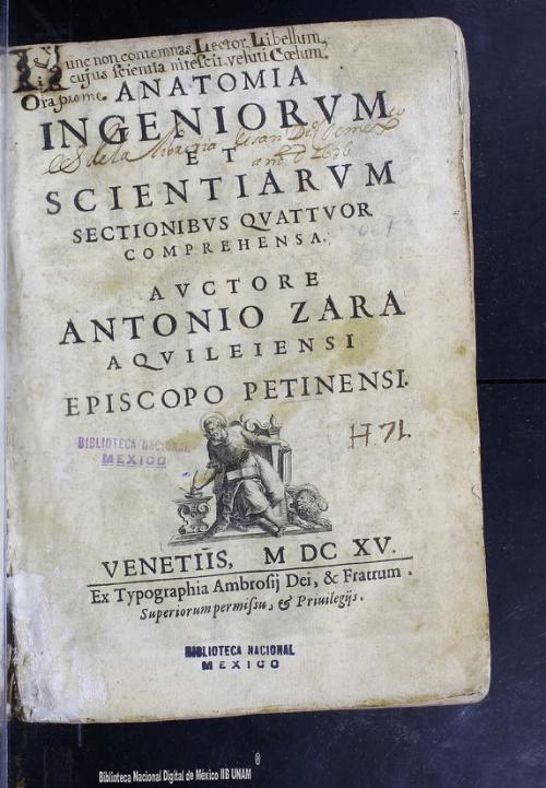 Imagen de Anatomía ingeniorvm et scientiarvm: sectionibvs qvattvor comprehensa