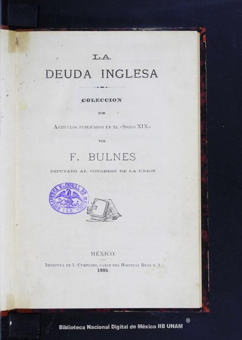 Imagen de La deuda inglesa: colección de artículos publicados en el Siglo XIX
