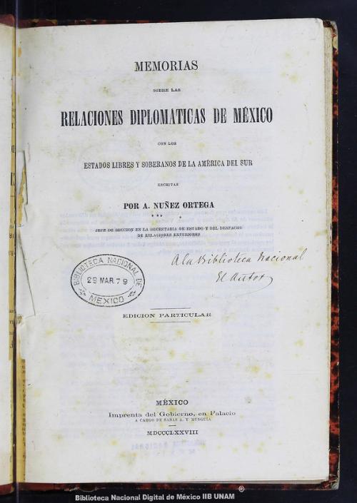 Imagen de Memorias sobre las relaciones diplomáticas de México con los Estados libres y soberanos de la América del Sur