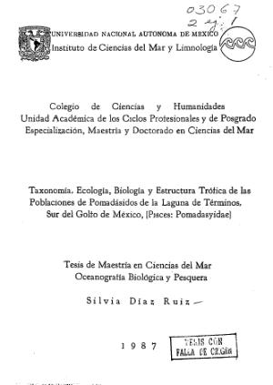 Taxonomia Ecologia Biologia Y Estructura Trofica De Las