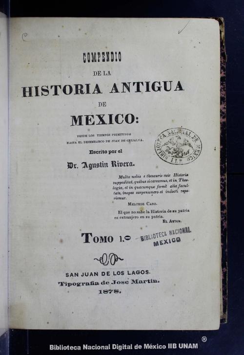 Imagen de Compendio de la historia antigua de México: desde los tiempos primitivos hasta el desembarco de Juan de Grijalva