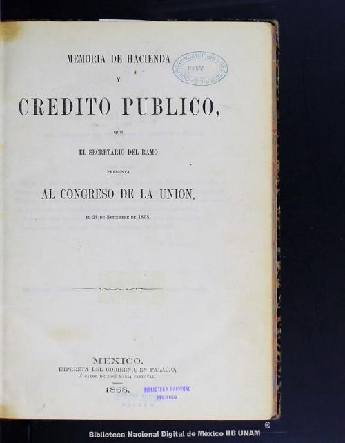 Imagen de Memoria de hacienda y crédito público