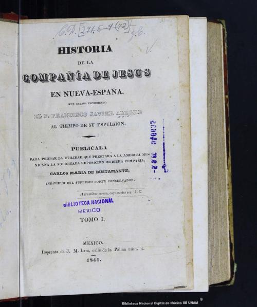 Imagen de Historia de la Compañía de Jesús en Nueva-España