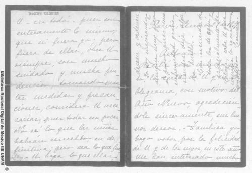 Imagen de Carta de Carmen Romero Rubio de Díaz en París, a Antonio en México
