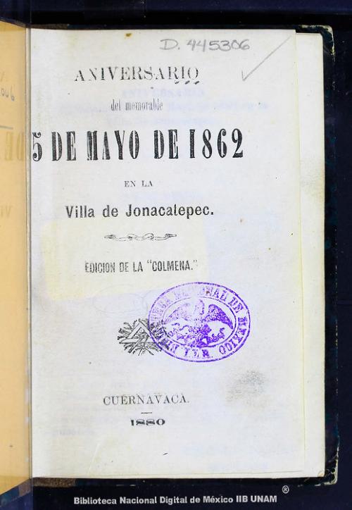 Imagen de Aniversario del memorable 5 de mayo de 1862 en la villa de Jonacatepec
