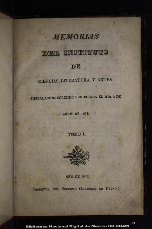 Imagen de Memorias del Instituto de Ciencias, Literatura y Artes