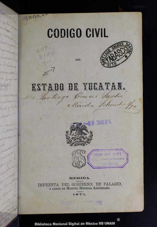 Imagen de Código civil del Estado de Yucatán