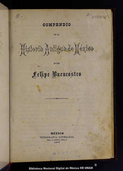 Imagen de Compendio de la historia antigua de México