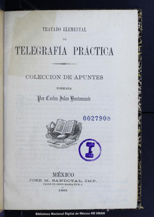 Imagen de Tratado elemental de telegrafía práctica: colección de apuntes