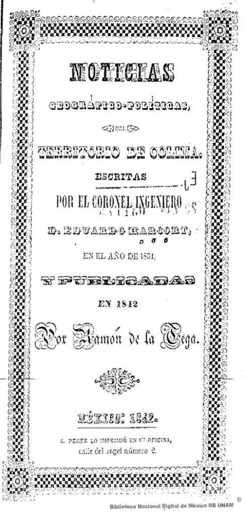 Imagen de Noticias geográfico-políticas, del territorio de Colima