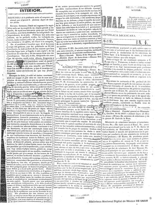 Imagen de Renuncia de la presidencia ante el Congreso Nacional, por el general D Antonio López de Santa-Anna