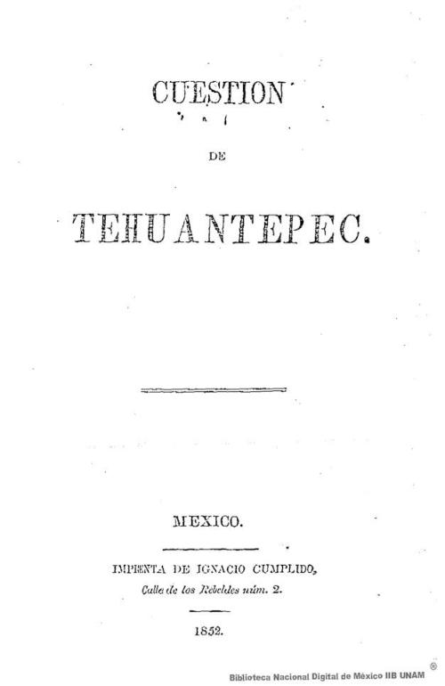 Imagen de Cuestión de Tehauntepec