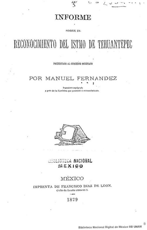 Imagen de Informe sobre reconocimiento del Istmo de Tehuantepec