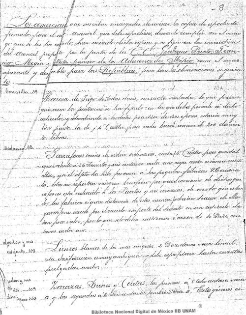 Imagen de Observaciones a la iniciativa de arancel propuesto por la junta de los C. C. Guillermo Prieto, Francisco Megia y el vista primero de la Aduana de México
