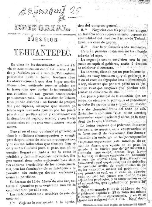 Imagen de Cuestion de Tehuantepec