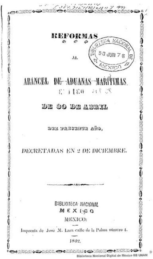 Imagen de Reformas al arancel de aduanas marítimas de 30 de abril del presente año, decretadas en 2 de diciembre