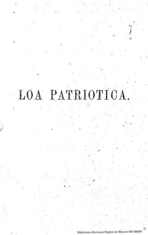 Imagen de Loa patriótica en un acto y un verso
