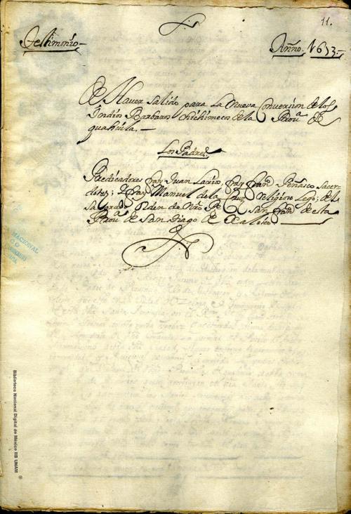 Imagen de Testimonio de la salida para la nueva conversión de los indios chichimecos de Coahuila de los religiosos franciscanos