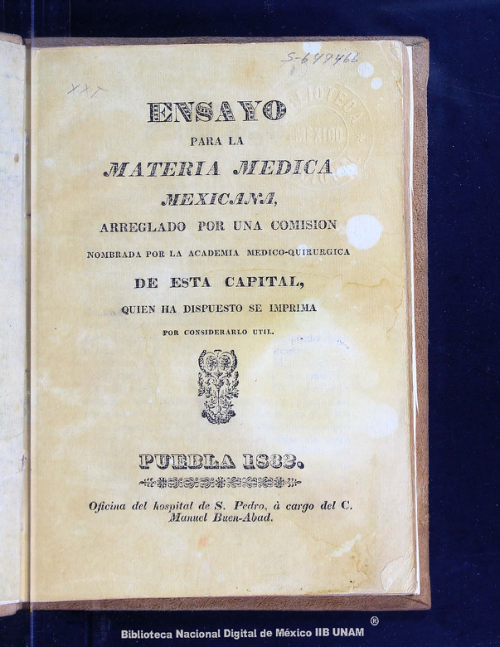 Imagen de Ensayo para la materia médica mexicana