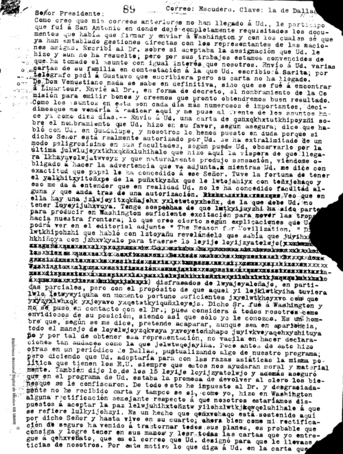 Imagen de Carta de William Olliphant donde señala que dejó requisitados los documentos para Washington